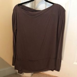 Draped free people top in soft fabric!
